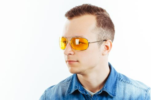 Водительские очки K03 yellow
